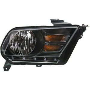 Headlight For 2010 2014 Ford Mustang Right Black Housing With Bulb Capa