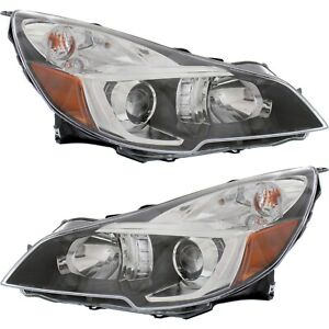 Headlight Set For 2013 2014 Subaru Legacy Left And Right With Bulb 2pc