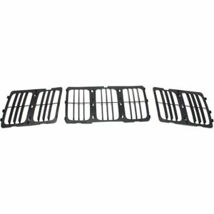 Grille For 2014 2016 Jeep Grand Cherokee Louvered Insert Textured Black Plastic