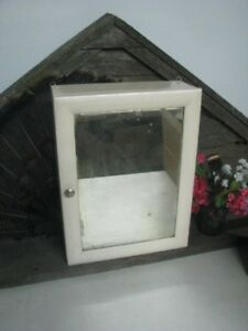 Vintage Wooden Wall Medicine Cabinet Cupboard With Mirror Hanging Wall Cabin