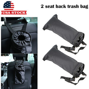Car Trash Bag Seat Headrest Litter Garbage Keeper Pouch Wastebasket Us Stock