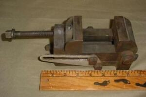 Vintage Craftsman 2 1 2 Jaw Angle Drill Press Vise Machinist Vice Old Stamp
