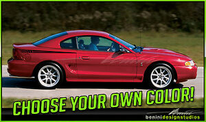 1994 1998 Ford Mustang Side Spear Stripes Vinyl Graphics Gt 1995 1996 1997 4