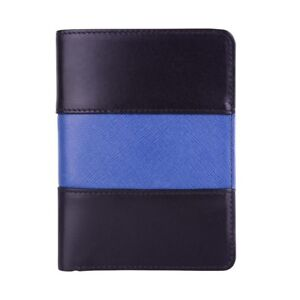 Police Leather Badge Wallet Universal Fit pin Back Badge Thin Blue Line