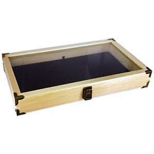 Box Collectible Tabletop Display Jewelry Case Countertop Men Medal For Boy Women