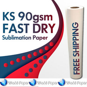 Sublimation Heat Transfer Paper Roll 44 X 328 Ft Ks 90gsm Fast Dry