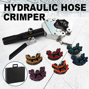 71500 A c Hose Crimper Tool Kit Manual Hydraulic Crimper Portable Crimping