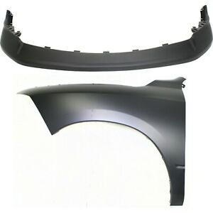 Bumper Cover Kit For 2011 2012 Ram 1500 Front 2pc Capa With Fender