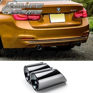N55 B58 Black Dual Exhaust Muffler 3 5 Tips For Bmw 3er F30 F31 F34 335i 340i