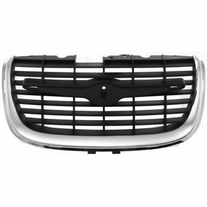Grille For 99 2001 Chrysler 300m Center Chrome Shell W Primed Insert Plastic