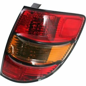 Halogen Tail Light For 2003 2008 Pontiac Vibe Right Amber Red Lens W Bulb s