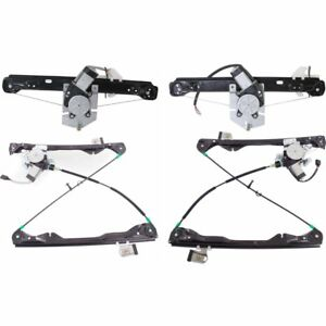 Power Window Regulator Set For 2008 2011 Ford Focus Front Rear With Motor 4pcs