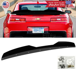 Add On Rear Trunk Decklid Gurney Flap Wicker Bill For 14 15 Camaro Z28 Spoiler