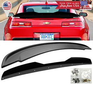 Rear Black Decklid Gurney Flap Wickerbill Z28 Wing Spoiler For 14 15 Camaro