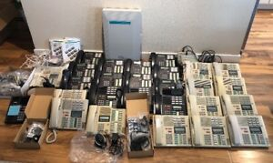 Huge Lot Nortel Norstar Meridian Cics Business Office Phone System 33 Piece