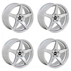 18x9 5 Vmr V705 5x112 45 Hyper Silver Wheels Rims Set 4