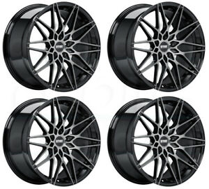 18x8 5 Vmr V801 5x112 45 Titanium Black Wheels Rims Set 4
