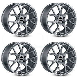 18x10 Vmr V810 5x112 25 Gunmetal Wheels Rims Set 4