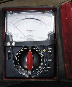 Triplett A 630 plk Type 5 Multimeter W leads Inst Manual Analog Excellent