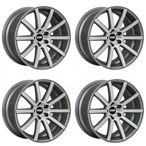 18x9 5 Vmr V702 5x112 22 Gunmetal Brushed Wheels Rims Set 4