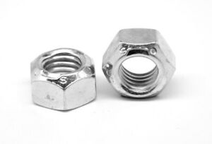 M8 X 1 25 Cl 8 Automation stover All Metal Locknut Zinc And Wax