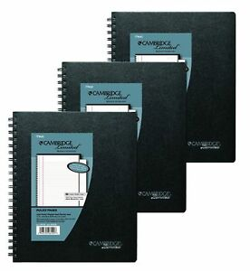 3 Pack Of Cambridge Business Notebook With Pocket Hardbound 8 5 X 11 In New