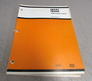 Case 450b Crawler Tractor Parts Catalog Manual 1372 1979