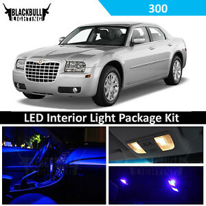 Blue Led Lights Interior Package Accessories Kit Fits 2005 2010 Chrysler 300