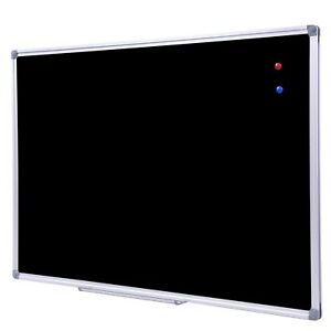 36 X 24 Inch Aluminum Frame Wall Mounted Dry Erase Blackboard And Magnet New
