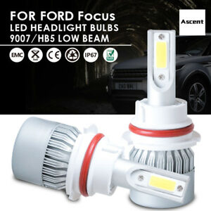 9007 Hb5 Cree Led Headlight Conversion Kit Power Bulbs 6000k For Ford Focus 2005