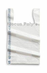Small Plastic Bags White 1500 Count 8x4x15 Shopping Bags Groce 2day Delivery