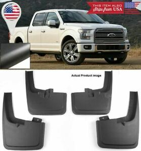 4pcs Front Rear Mud Flaps Splash Guards W Fender Flares For 2015 2018 Ford F150