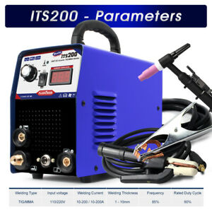 Welding Machine 2in1 Stainless carbon 200amp Tig mma Welder Tig Torch 110 220v