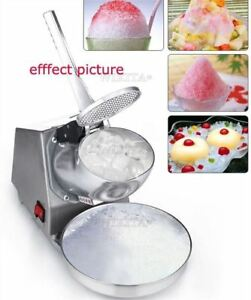 Electric Snow Cone Maker 220v Smoothie Ice Crusher Ice Shaver Machine New Ql