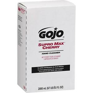 Gojo Supro Max Cherry Hand Cleaners Remove Tough Sticky Soils Bag In Box 2000 Ml