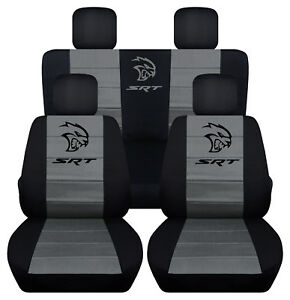 Fis 2014 Dodge Ram Srt 40 20 40 Front Solid Rear Black Charcoal Seat Covers Abf