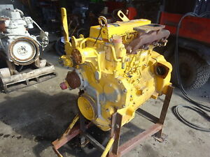 John Deere 4045dt056 Diesel Engine Runs Mint Video 310g Backhoe Loader 4045 4 5