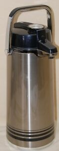 Airpot 84 Oz 2 2 Lt Stainless Steel Lined peacock Lever Pot