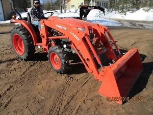 Kubota L3901 Tractor 4x4 Loader Quick Attach Bucket 37 5 Hp 43 Hours