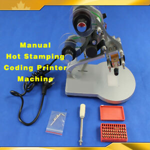 Manual Hot Stamping Coding Printer Machine Ribbon Coding Date Batch Character