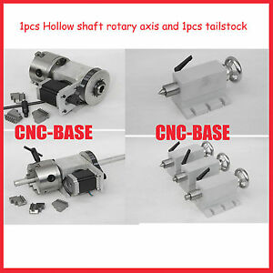 K12 100mm Chunk Hollow Shaft 4 Axis Rotary Axis Tailstock For Cnc Router
