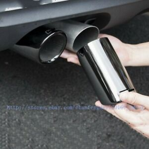 Black Stainless Exhaust Muffler Tail Pipe Tip Tailpipe 2pcs For Audi A5 8t 12 18