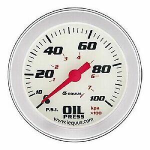 Equus 2 5 8 Inch White Faced Mechanical Oil Pressure Gauge Kit Equus 8444 New