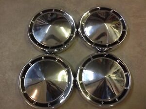 1960 Ford Full Size Galaxie Dog Dish Hubcap Set Of 4 10 1 4