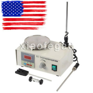 2pcs Laboratory Lab Magnetic Stirrer With Heating Plate 85 2 Hotplate Mixer Usa