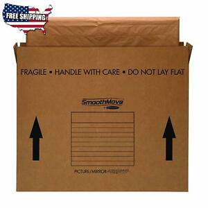 4 Pack Packing Moving Boxes For Tv Picture Mirror Artwork Large 48x4x33 Inches