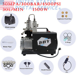High Pressure Air Pump Electric Pcp Air Compressor For Airgun Scuba Rifle30mpa