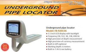 Multi Frequency Underground Pipe Locator 3 5 Lcd 512hz Gps Working Depth 20ft