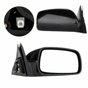 Left right Side View For 2007 2011 Toyota Camry Black Power Door Mirrors Pair