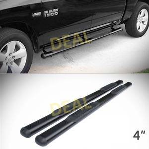 2pcs 4 Oval Blk Side Step Nerf Bars Fit 09 18 Ram 1500 10 18 2500 3500 Crew Cab